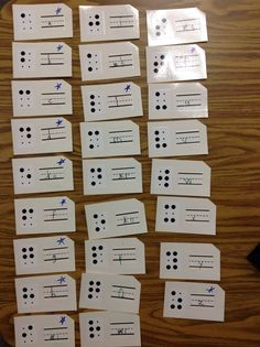 Braille Homework Sheets   L  Braille   Pinterest   Homework sheet     Create some print Braille flash cards and laminate them  Have students  write their answers using