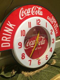 1950's Coca Cola neon clock