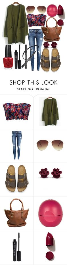 """Untitled #111"" by the-fashion-fantasy ❤ liked on Polyvore featuring BKE, H&M, Forever 21, Birkenstock, River Island, Smashbox, NARS Cosmetics and OPI"