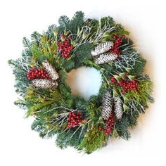 Snowy Cones Wreath