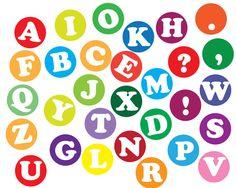Instant download Alphabet letters Clip art, Scrapbooking letters clip art, abc… Korean Stickers, Diy Stickers, Printable Stickers, Planner Stickers, Journal Aesthetic, Aesthetic Stickers, Letters And Numbers, Sticker Design, Polaroid