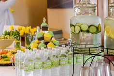 yellow and green baby shower - Google Search