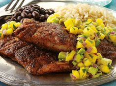 Cajun Snapper with Mango Salsa recipe - Men's Health Magazine