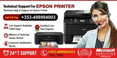 Call on Epson Printer customer support number Ireland +353-498994003 for any kind of Epson printer related issues fixed. Here we have the best team of technicians & experts who will aid you.