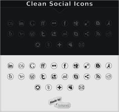 Clean Social #Icons