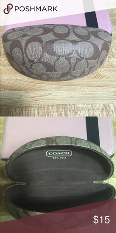 COACH Brown Signature Hardshell Sunglasses  Case COACH Brown Signature Hardshell Sunglasses  Case. Came with sunglasses that I bought but I never used it. Make a reasonable offer. No trades. Coach Accessories Sunglasses
