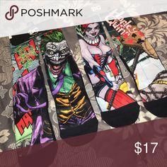 D.C. Men's Joker and Harley Quinn  socks NWT Stylish socks DC Underwear & Socks Athletic Socks