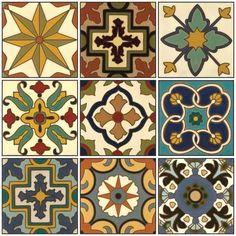 handpainted Catalina -type vintage tile