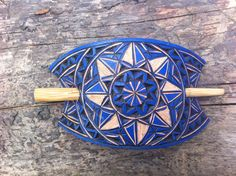 Hand carved leather hair barrette with geometric design.The hair stick is made out of bamboo wood and is inch cm). Etsy Handmade, Handmade Items, Handmade Gifts, Sharon Smith, Hair Slide, Hair Sticks, Hair Barrettes, Leather Jewelry, Etsy Store