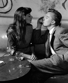 Juliette Gréco and her husband - Paris 1954 by nico Jesse
