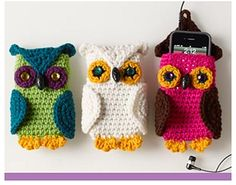 Ravelry: Owl Cell Phone Cozy (FREE) pattern by Linda Cyr.