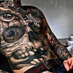 The jaw-dropping realism of tattoo artist John Anderton skull blackandgrey realism blackworker JohnAnderton