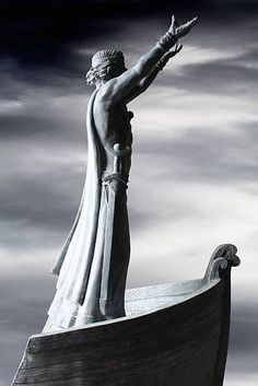 Statue of Manannán Mac Lir - Gortmore Viewing Point, Binevenagh Mountain, Limavady, Co. Londonderry