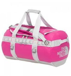 A tough, durable and versatile duffel. Pink Suitcase, Pink Luggage, Gym Accessories, Pink Handbags, Pink Houses, Duffel Bag, The North Face, North Faces, Pretty In Pink