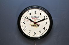 Capital Airlines Vintage Wall Clock : 20th Century Vintage Furnishings & Design