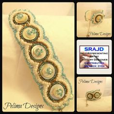 Hand stitched cuff by Pelima on Etsy, $57.00