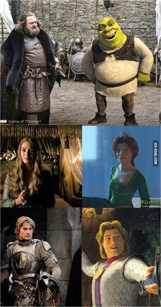 Game of shrek thrones #9gag #world #game #thrones 9gag game of thrones Game Of Thrones Cosplay, Hbo Game Of Thrones, Shrek, Best Funny Pictures, Funny Memes, Games, Cute, Movie Posters, Etsy