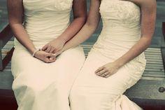 vintage lesbian wedding | Two-dresses-lesbian-wedding_large