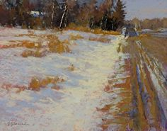 """September's Sensational Pastels: Barbara Courtney Jaenicke, """"Travelin' Down That Road,"""" pastel, 11 x 14 in Painting Snow, Winter Painting, Painting Competition, Winter Scenery, Winter Sunset, Paintings I Love, Pastel Art, Online Painting, Winter Landscape"""