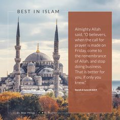 O believers when the call for prayer is made on Friday come to the remembrance of Allah and stop doing business. That is better for you if only you knew. Surah Al-Jumuah 62:9 #IslamicQuotes #FridayQuotes |  Almighty Allah said  O believers when the call for prayer is made on Friday come to the remembrance of Allah and stop doing business. That is better for you if only you knew.   Surah Al-Jumuah 62:9  The post O believers when the call for prayer is made on Friday come to the remembrance of…