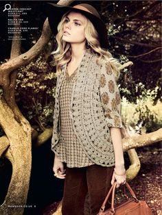 Boho-esque. Like the patterns in neutral shades with a monochromatic textured knit