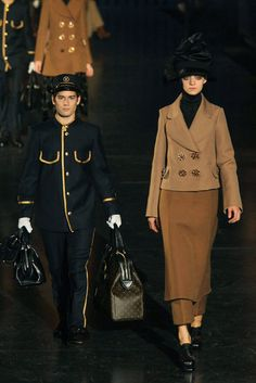 How to travel in style by-Louis Vuitton Runway Fall 2012.