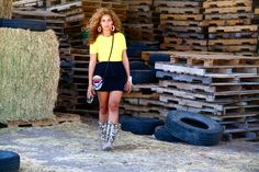 In love with everything about this picture! Neeed to get those boots!  Beyoncé | I Am