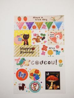 No. E  Masking Deco Sticker 3 sheets by pikwahchan on Etsy, $1.90
