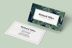 Business card template ocean card templates business cards and business card template flora flashek Choice Image