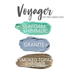 The Voyager Eye Trio uses three SeneGence ShadowSense: LE Seafoam Shimmer, Granite & Smoked Topaz Shimmer ShadowSense.  These cream to powder eyeshadows will last ALL DAY on your eye.  #shadowsense #eyeshadow