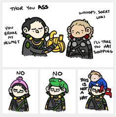 "Super cute Avengers fan art. I love Nick Fury having to mind the ""kids"". Hehehe"