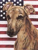 Greyhound Outdoor Garden Flag