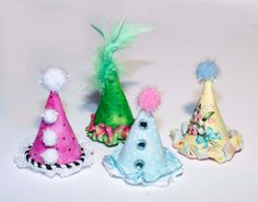 MiniParty Hats 2 by tinkeringwithjoy on Etsy