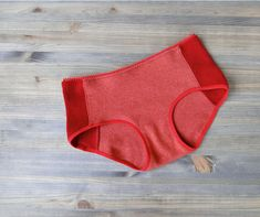 Cashmere red/burnt orange boyshorts - made to measure