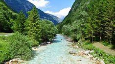 Rivière de la Soca, Alpes Juliennes, Slovénie