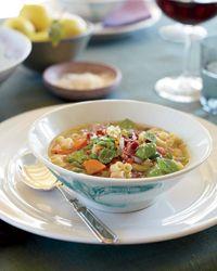 Fava Bean Pasta e Fagioli Recipe Bean Recipes, Wine Recipes, Soup Recipes, Healthy Recipes, Healthy Cooking, Delicious Recipes, Vegetable Stew, Vegetable Recipes, Al Dente