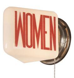 Industrial Women's Room Light c1940  R5087
