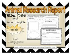 Animal Research Report Printables - Reports - Tierwelt Science Lessons, Science Activities, Science Ideas, Reading Activities, Teaching Science, Teaching Tips, Research Poster, Research Report, 1st Grade Writing