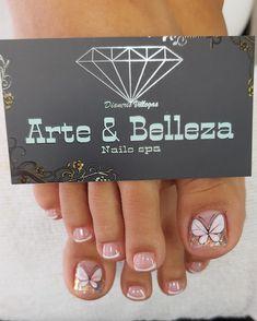 Feet Nails, Cute Nail Art, Nail Spa, Short Nails, Pedicure, Nail Designs, Hair Beauty, Glitter, Easy Nails