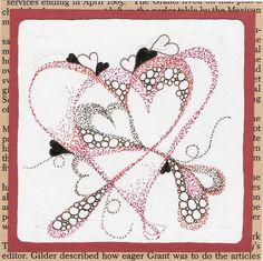 zentangle patterns hearts - Google Search