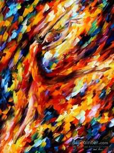 Leonid Afremov Flame Dance oil painting reproductions for sale