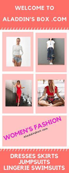 Front Zipper Split Hem Frayed Trim Denim Skirt - Aladdin's Box . Office Dresses For Women, Long Skirts For Women, Skirts For Sale, High Waisted Denim Skirt, Denim Mini Skirt, Mini Skirts, Aladdin, Vintage Long Dress, Preppy Dresses