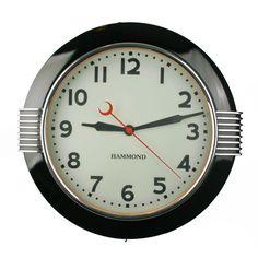Large Art Deco Illuminated Hammond Sychronous Wall Clock at 1stdibs