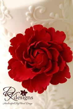 Made to Order - Couture Clay Peony Cake Flower. $50.00, via Etsy.