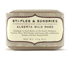 vintage looking soap packaging