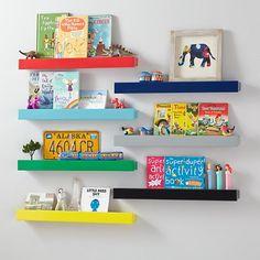 Colorful Modern Bookshelf Ledge in Shelves & Hooks   The Land of Nod