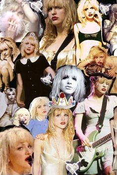Courtney Love I swear I had this collage in my room growing up her photos where everywhere