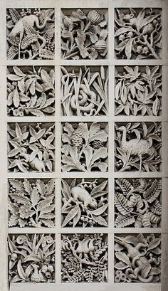 Panel of Australiana motifs, former South Yarra Post Office, 162 Toorak Road, South Yarra.    Designed: AJ MacDonald, Public Works Department.  Erected:1892-3.  Victorian Period (1851-1901) .  American Romanesque Style.