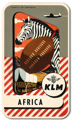Zebras playing Football in Africa Pub Vintage, Vintage Hotels, Vintage Games, Luggage Stickers, Luggage Labels, Illustrations, Graphic Illustration, Royal Dutch, Vintage Travel Posters