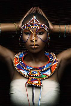 ☆ Alternative Purple ☆彡 Sacred Feminine, Divine Feminine, Black Is Beautiful, Beautiful Women, African Tribes, We Are The World, Tribal Jewelry, Great Pictures, People Around The World